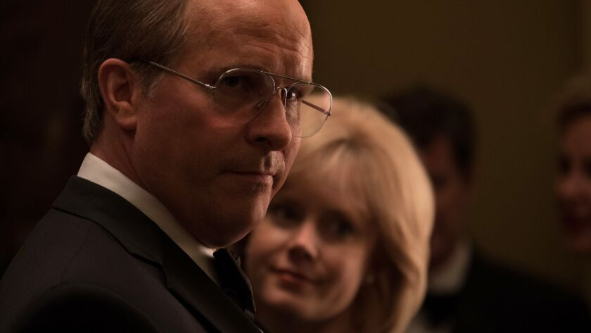 """Christian Bale and Amy Adams in the movie """"Vice."""""""