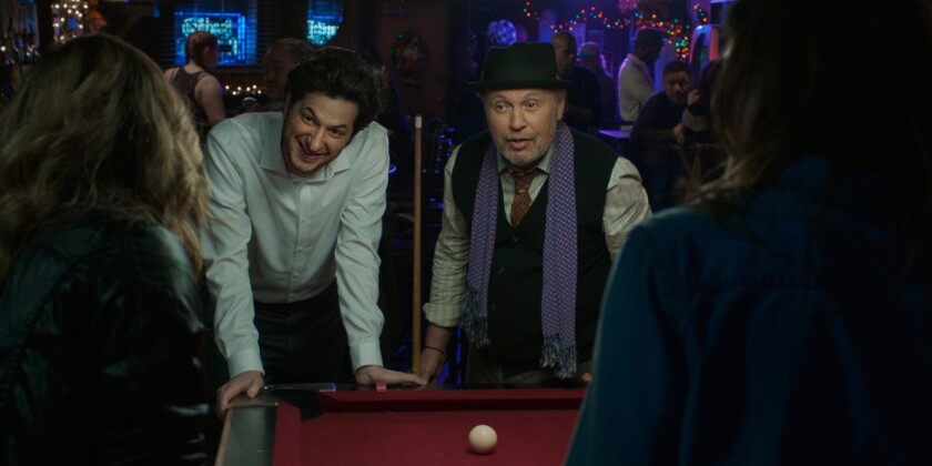 Ben Schwartz and Billy Crystal in the movie 'Standing Up, Falling Down'