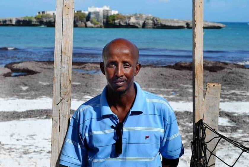 Ahmed Jama has staked $200,000 to build a hotel and restaurant complex at Jazeera Beach, on the edge of Mogadishu, Somalia's capital.
