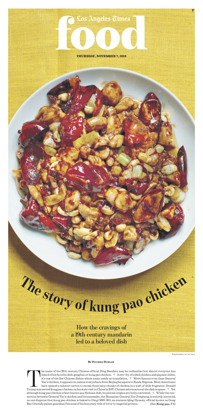 Los Angeles Times Food cover, November 7, 2019
