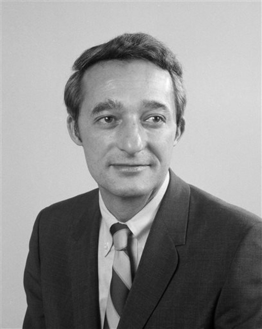 FILE- This April 23, 1969 file photo, shows Associated Press foreign correspondent John Fenton Wheeler. Wheeler, who was the last U.S. reporter expelled from Cold War-era Cuba, has died. He was 88. (AP Photo/Dan Grossi, File)