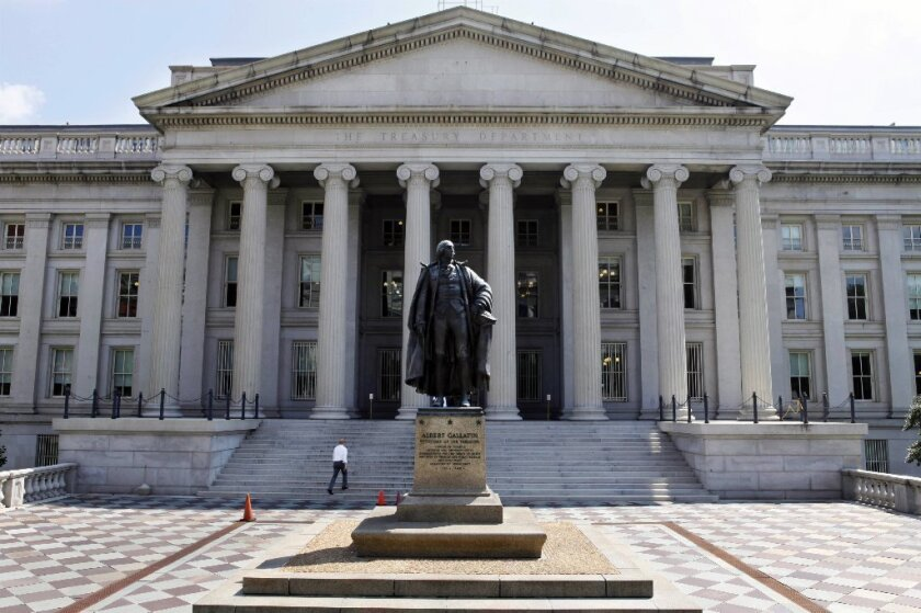 U.S. will hit debt limit by year's end; Treasury can delay impact