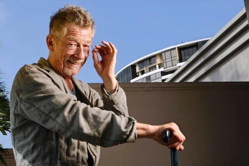 "John Hurt stars in Samuel Beckett's one-man one-act play, ""Krapp's Last Tape."""