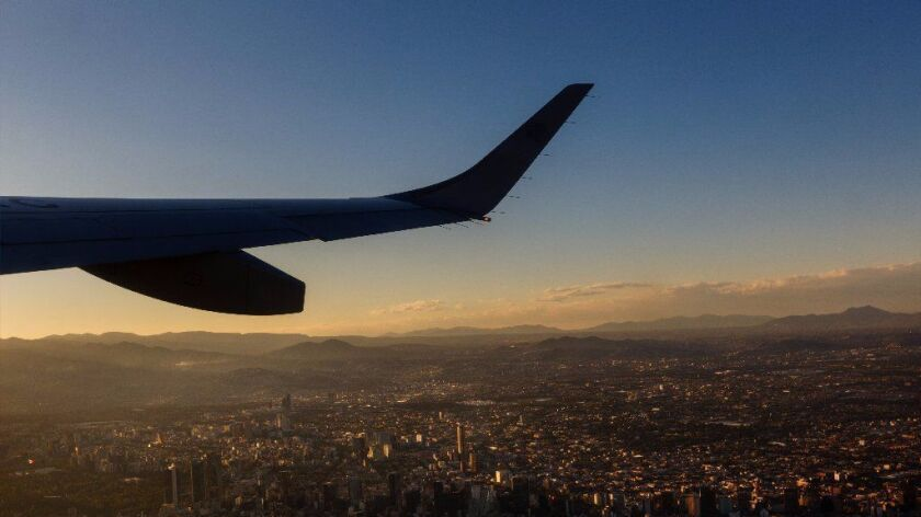 An Aeromexico flight leaves Mexico City. The carrier is adding flights to the U.S.