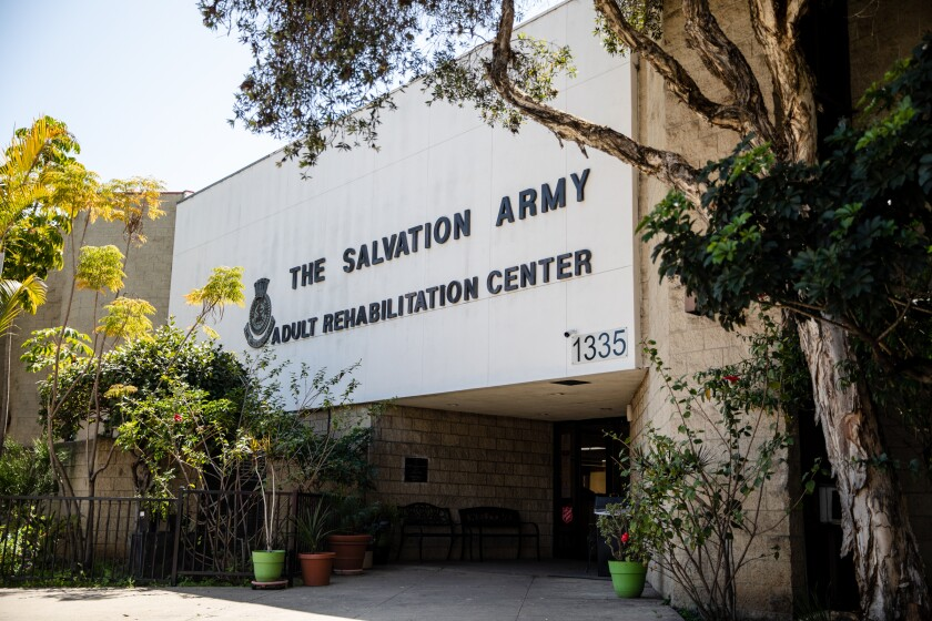 The Salvation Army Adult Rehabilitation Center on Broadway in downtown San Diego.