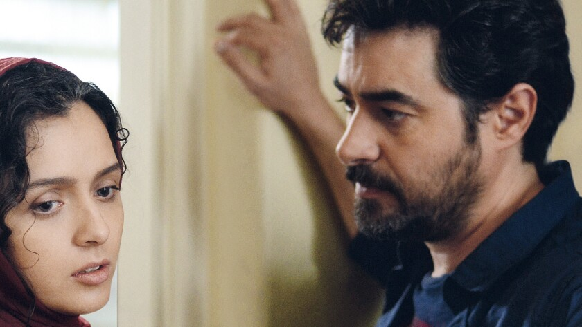 "In the film ""The Salesman,"" Taraneh Alidoosti, left, and Shahab Hosseini star as a married couple acting in a Tehran stage production of ""Death of a Salesman."""