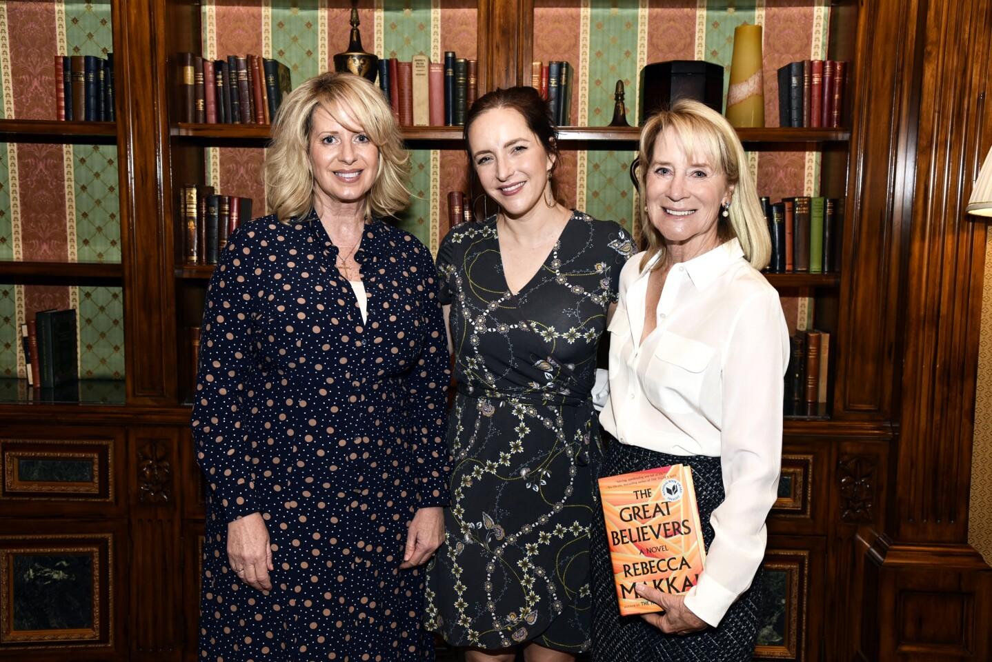 Northern Trust Vice President Events & Marketing Kelly Colvard, author Rebecca Makkai, RSF Literary Society President Candace Humber