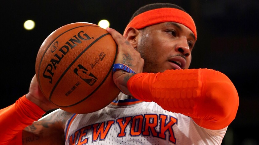 Free-agent forward Carmelo Anthony is planning to meet with the Lakers on Thursday.
