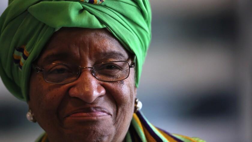 Ellen Johnson Sirleaf was elected president of Liberia in 2005.