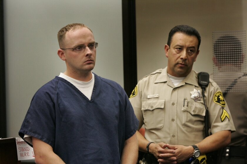Former SDPD officer Daniel Dana was arraigned in Department 12 of Superior Court.