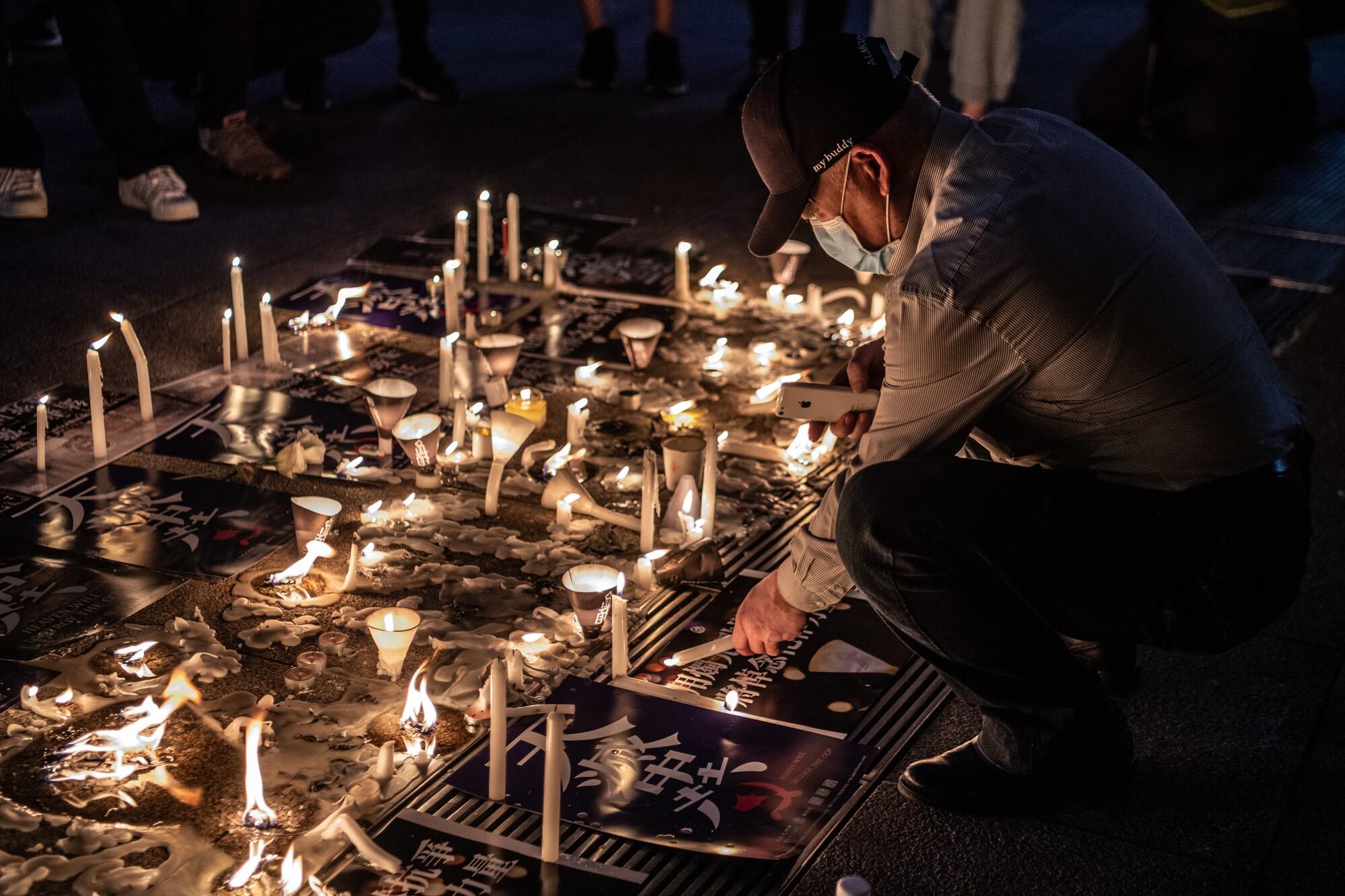 Vigil in Hong Kong honors victims of the 1989 Tiananmen Square massacre.