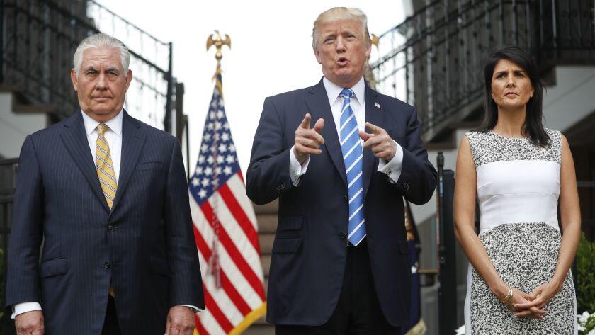 Donald Trump, Rex Tillerson, Nikki Haley