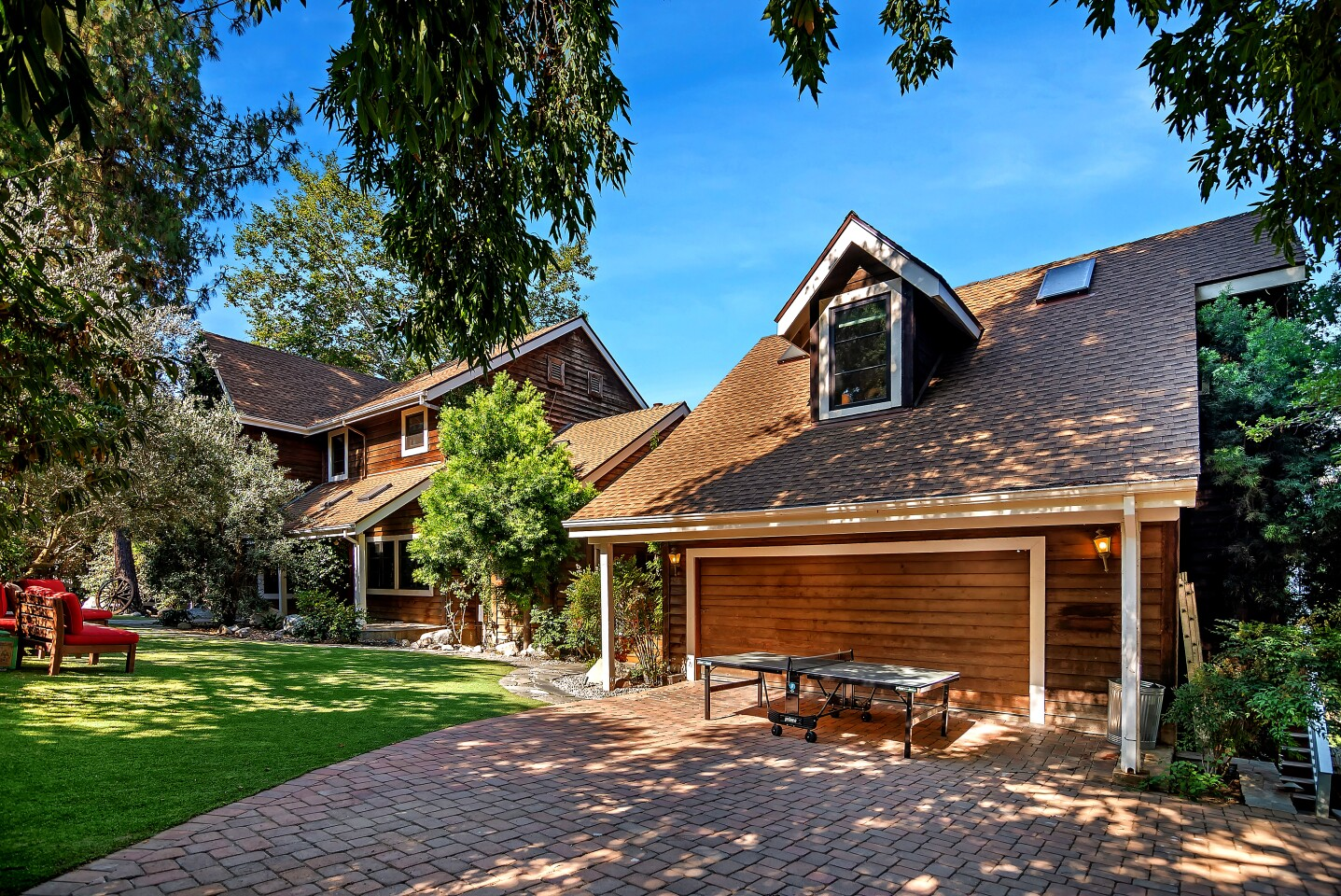It's no beet farm, but Rainn Wilson's Agoura Hills house, listed for $1.699 million, features a rustic charm complete with some barns. The three-bedroom house has about 3,300 square feet of living space, a family room with a brick fireplace and an updated kitchen. Rustic details include an vintage stove in the living room and a wagon wheel in the front yard.