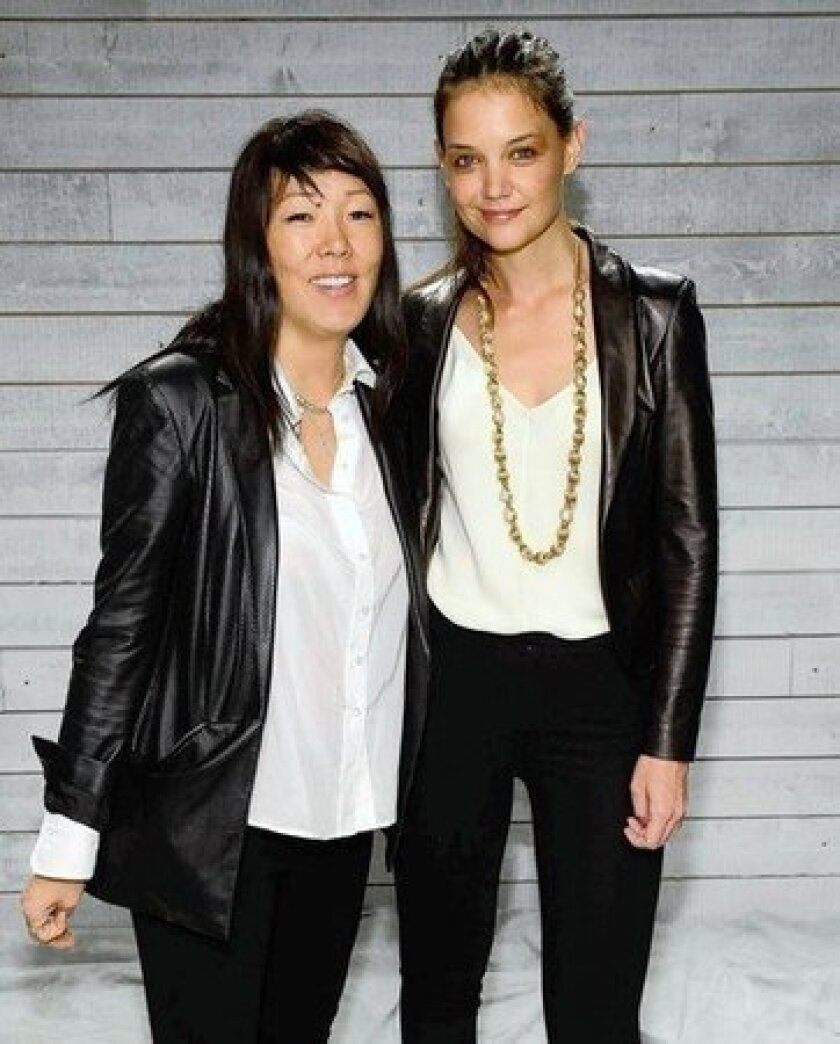 Katie Holmes and Jeanne Yang