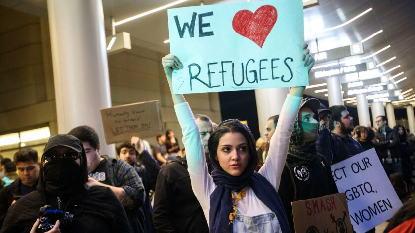 Travel ban protest