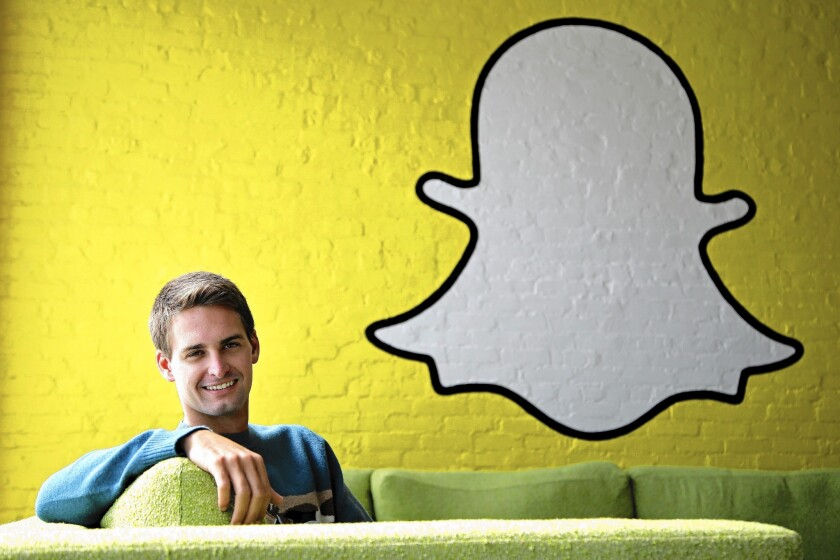 Early on, Snapchat was operated out of the home of co-founder Evan Spiegel's father in Pacific Palisades.