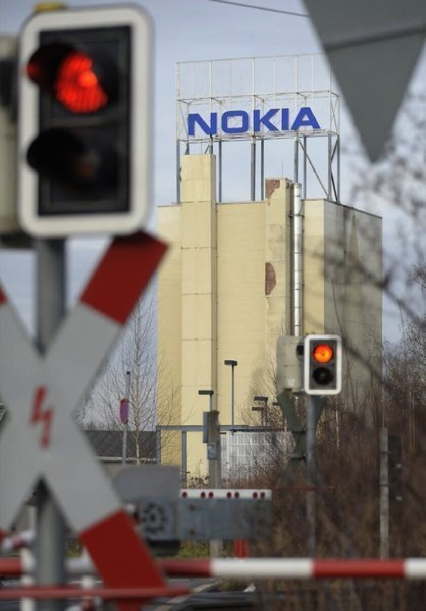 Finnish mobile phone maker Nokia's plant in Bochum, Germany.