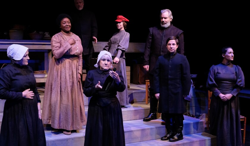 """The ensemble of """"Babette's Feast"""" at Lamb's Players Theatre."""