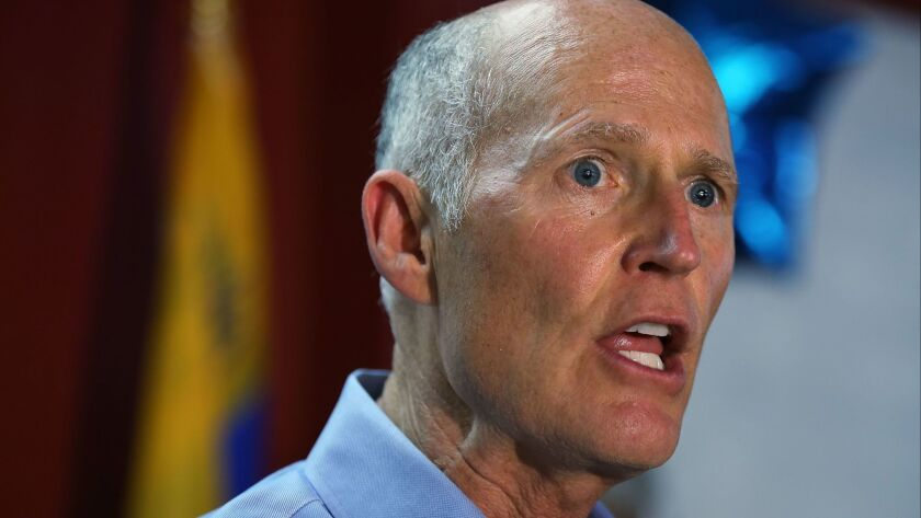 Rick Scott Leads Rally Supporting Relaease Of Venezuelan Political Prisoners