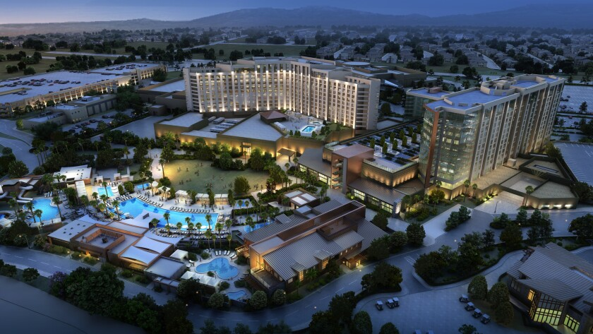 An artist's rendering of the Pechanga Resort and Casino once its $285-million expansion is completed in late 2017.