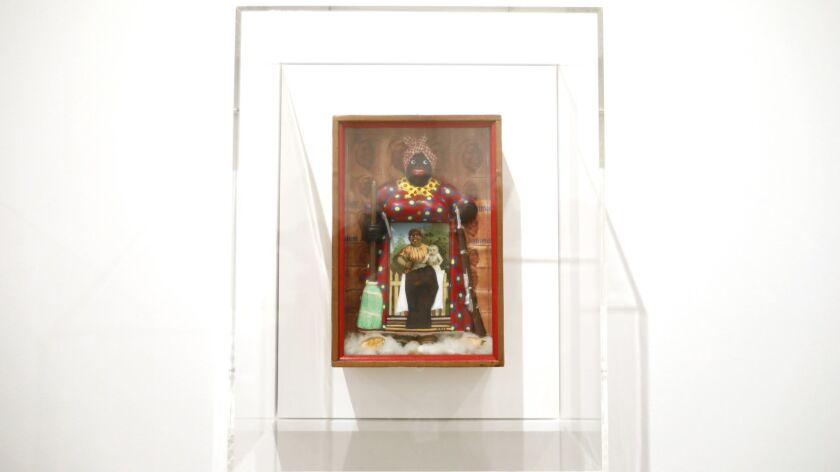 """LOS ANGELES, CA March 18, 2019: """"The Liberation of Aunt Jemima"""" by Betye Saar Hammons at The Broad"""