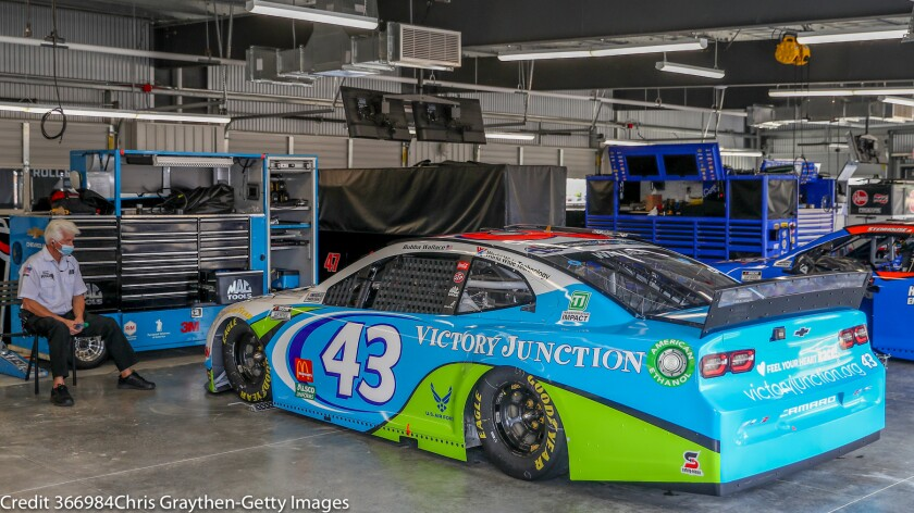 Inside the Bubba Wallace garage