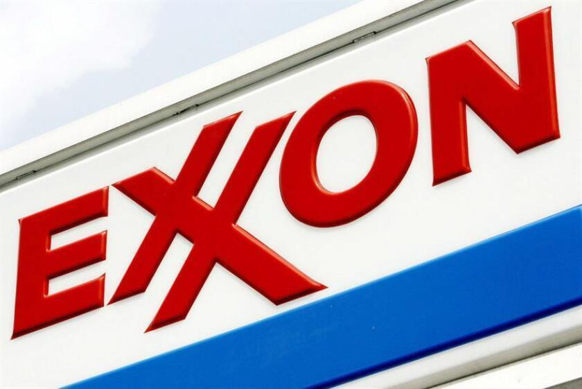 Logo de una estación de servicio Exxon de Brooklyn, Nueva York. EFE/Archivo
