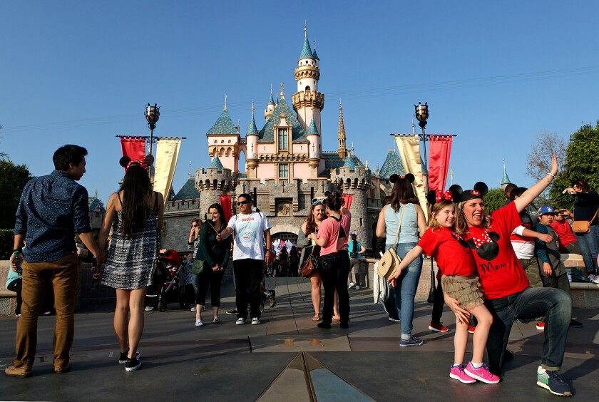 Disneyland guests enjoy a day at the park Jan. 13.