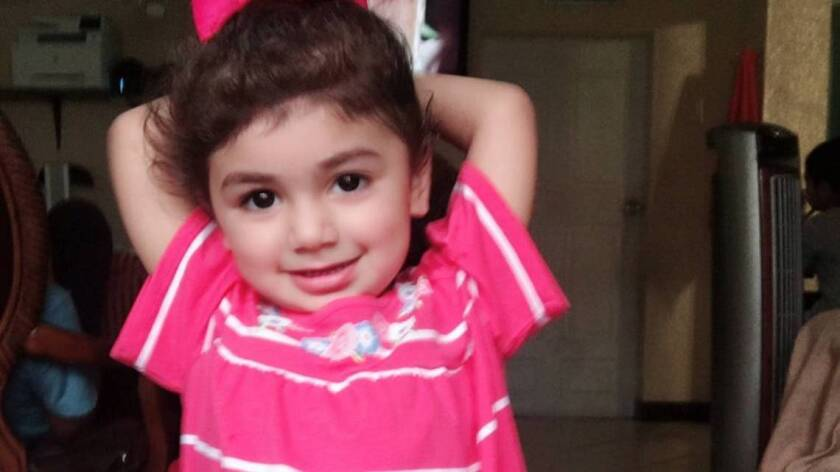 Zainab Mughal was diagnosed with a neuroblastoma, an aggressive cancer that usually occurs in children.