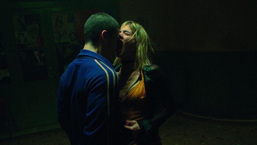 "Sofia Boutella and Romain Guillermic costar in the Gaspar Noe drama ""Climax."""