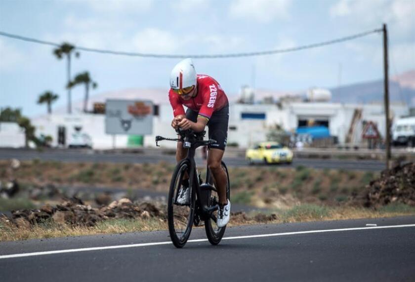 El español Iván Raña se clasificó este domingo tercero en el Ironman de Cozumel (México), tal y como hizo hace un año en esta misma prueba. EFE/ARCHIVO