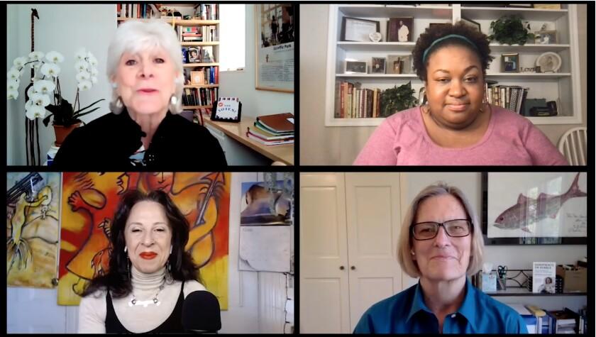 Clockwise from top left: Lynn Sherr, Brittney Cooper, Kathy Sullivan and Maria Hinojosa