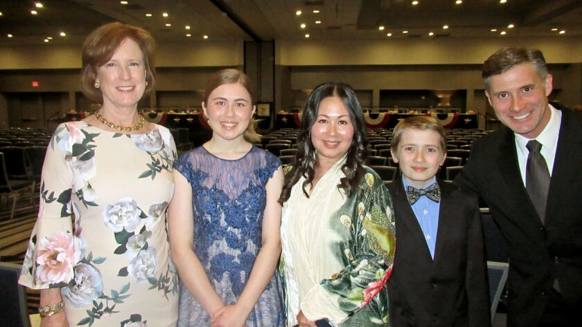 Madeline Higgins, an eighth-grade student at St. Bede School in La Canada Flintridge, won the DAR Ca