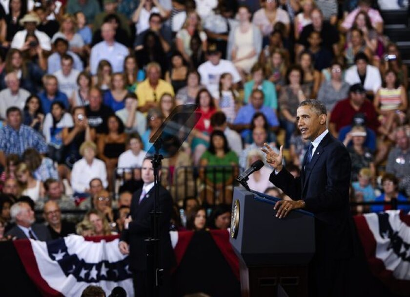 President Obama, shown speaking last week in Galesburg, Ill., is scheduled to visit an Amazon warehouse in Chattanooga, Tenn., on Tuesday.