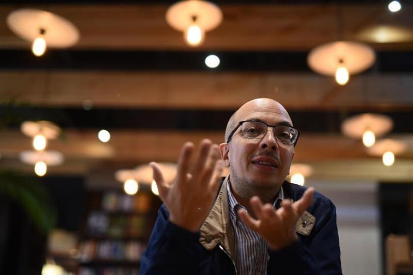 """El escritor mexicano Jorge Volpi, premio Alfaguara de novela 2018 por su obra """"Una novela criminal"""", participa en una entrevista con Efe en Ciudad de Guatemala. EFE"""