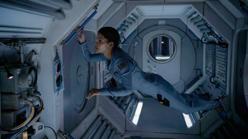 "Halle Berry as Molly Woods, a female astronaut trying to reconnect with her family after returning from a year in outer space, in ""Extant."""