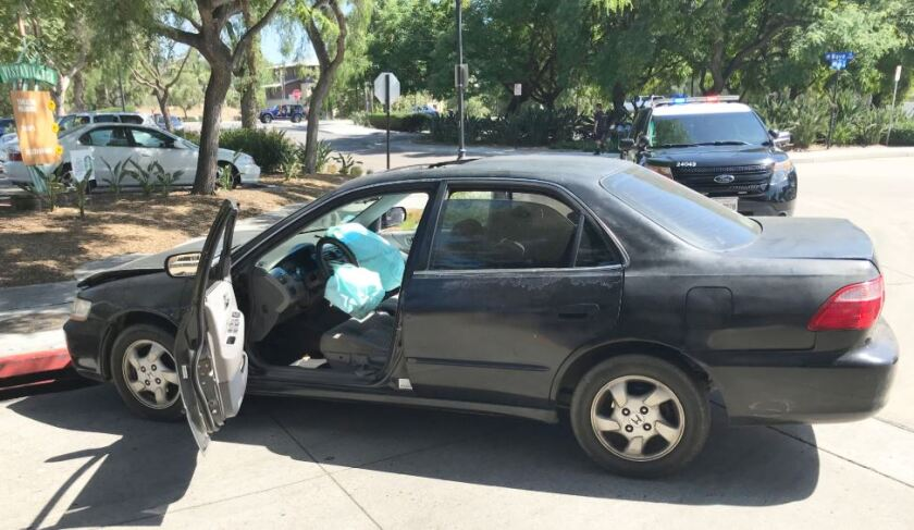 Sheriff's officials say this sedan was stolen at gunpoint during a carjacking in Vista on July 7, 2020.