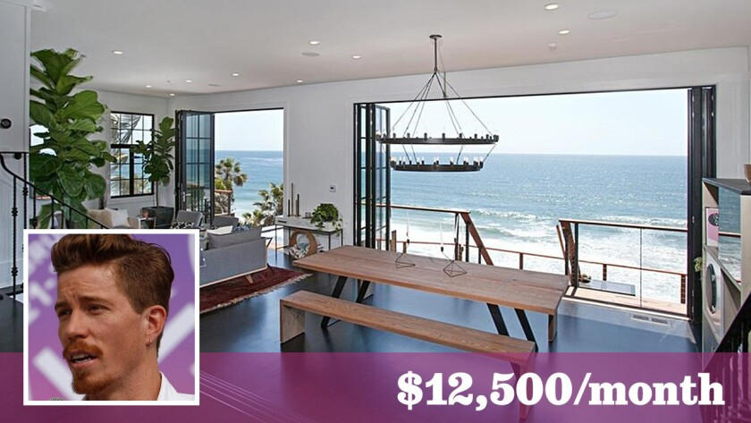 The X Games star is asking $12,500 a month to lease the renovated oceanfront home in Encinitas.