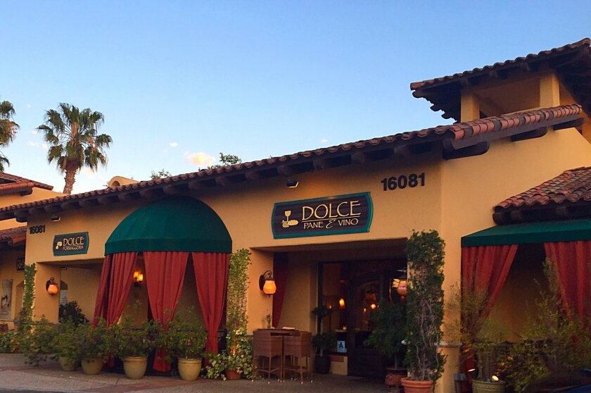 Dolce Pane e Vino will be part of the Village at Pacific Highlands Ranch. Courtesy photo