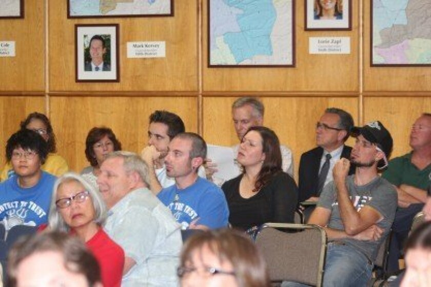 Beach access proponents and others await the outcome of the City Council's vote during the Feb. 24 meeting. Pat Sherman photos