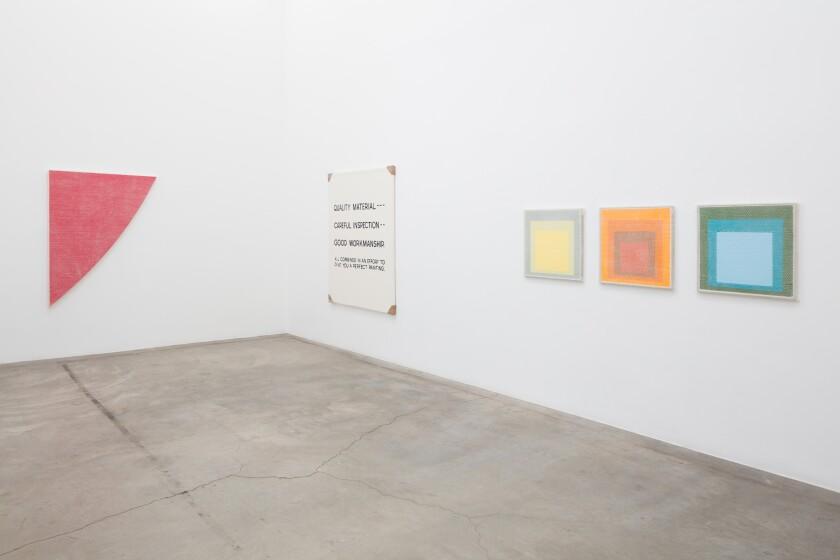 "Tammi Campbell's show ""Boring Art"" at the Los Angeles gallery Anat Ebgi."