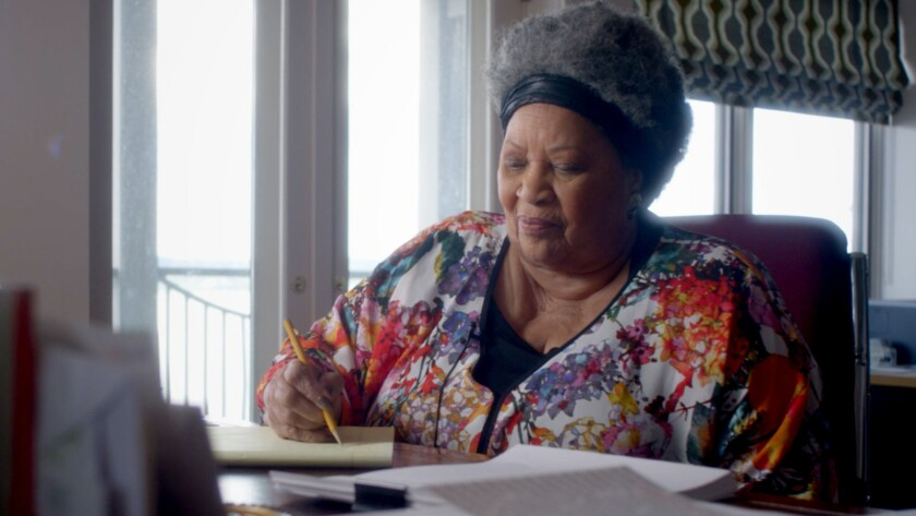 Toni Morrison in TONI MORRISON: THE PIECES I AM, a Magnolia Pictures release. Credit: Timothy Greenf