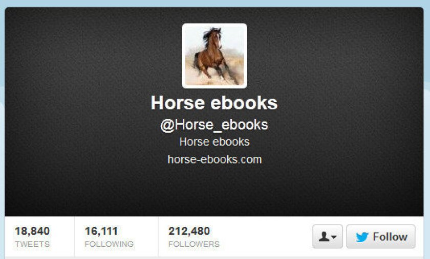 The @Horse_ebooks Twitter account is manned by a human after all.