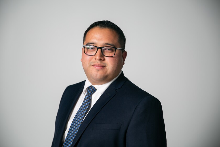 Kelvin Barrios, a candidate for the San Diego City Council in District 9.