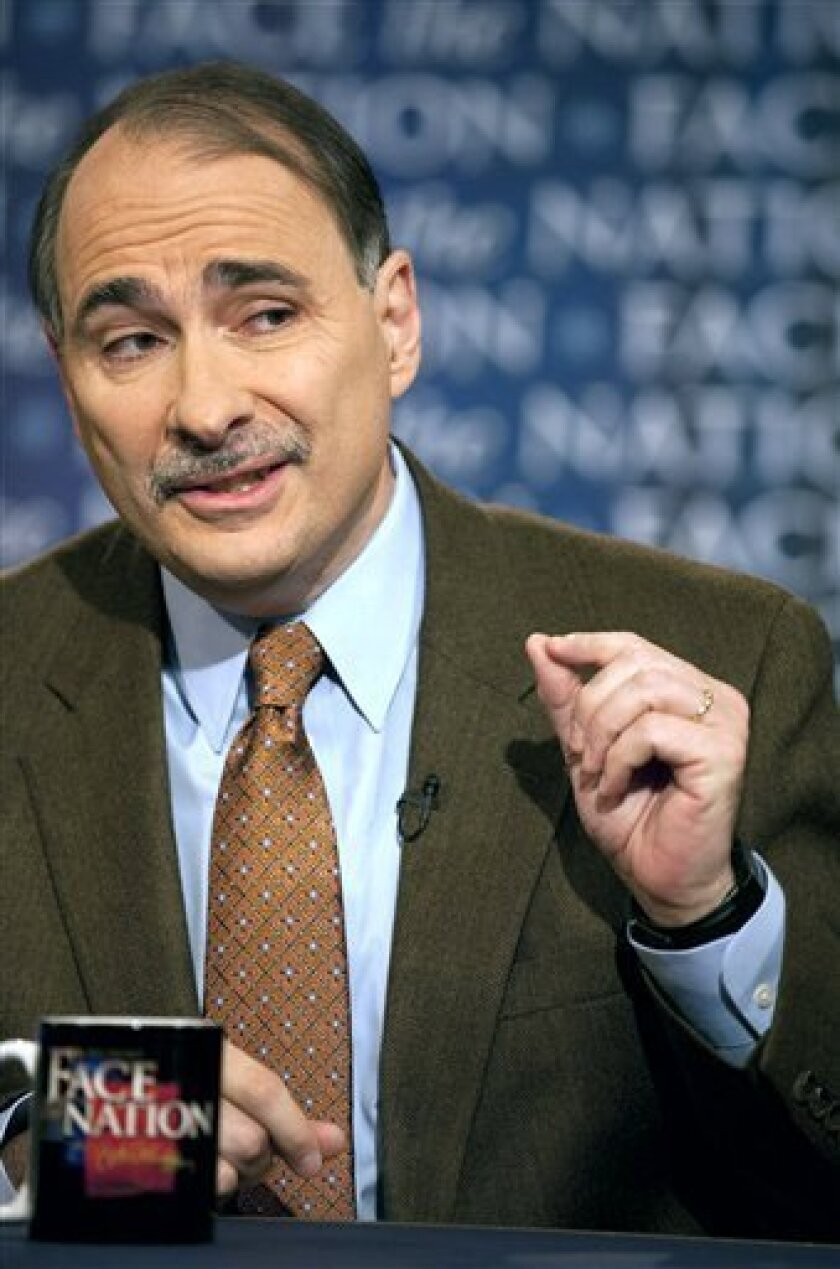 """In this photo provided by CBS, White House Senior Advisor David Axelrod talks about the upcoming midterm elections on """"Face The Nation"""" in Washington Sunday, Oct. 10, 2010. Axelrod said corporate interests are spending huge sums to help Republicans in the elections, calling those expenditures """"a threat to our democracy."""" (AP Photo/CBS, Chris Usher) NO ARCHIVES; NO SALES; FOR EDITORIAL USE ONLY"""