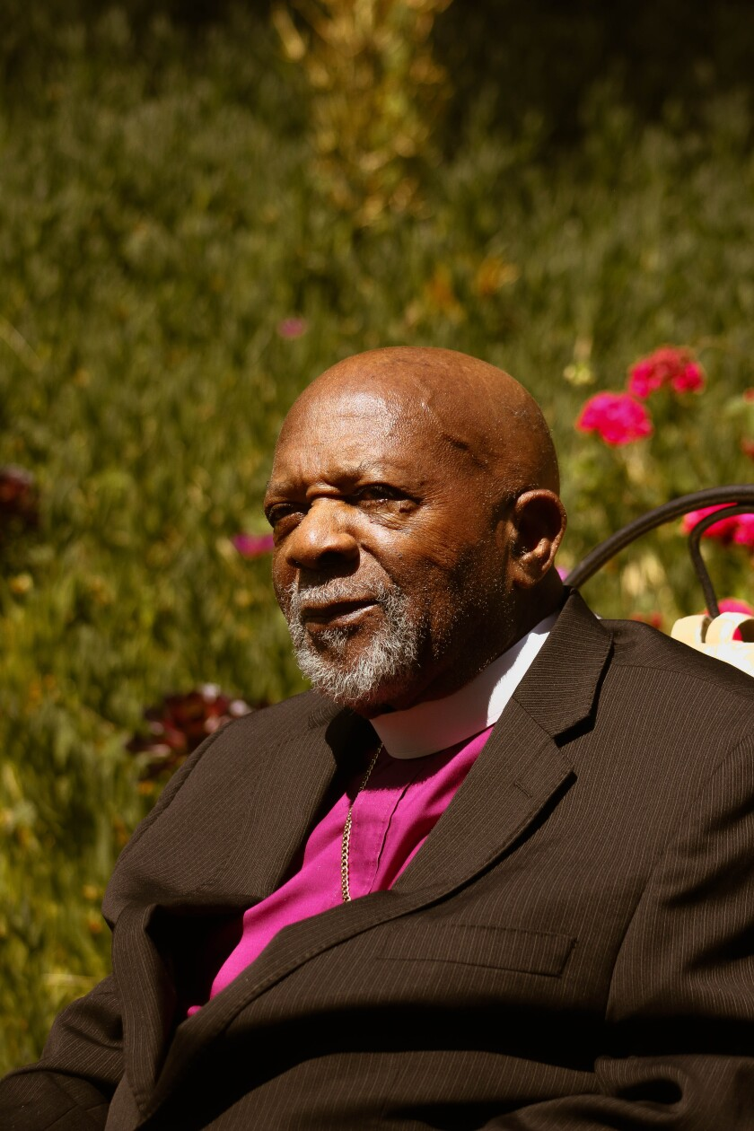 Bishop George McKinney poses for a portrait on June 3, 2020 in Chula Vista, California.
