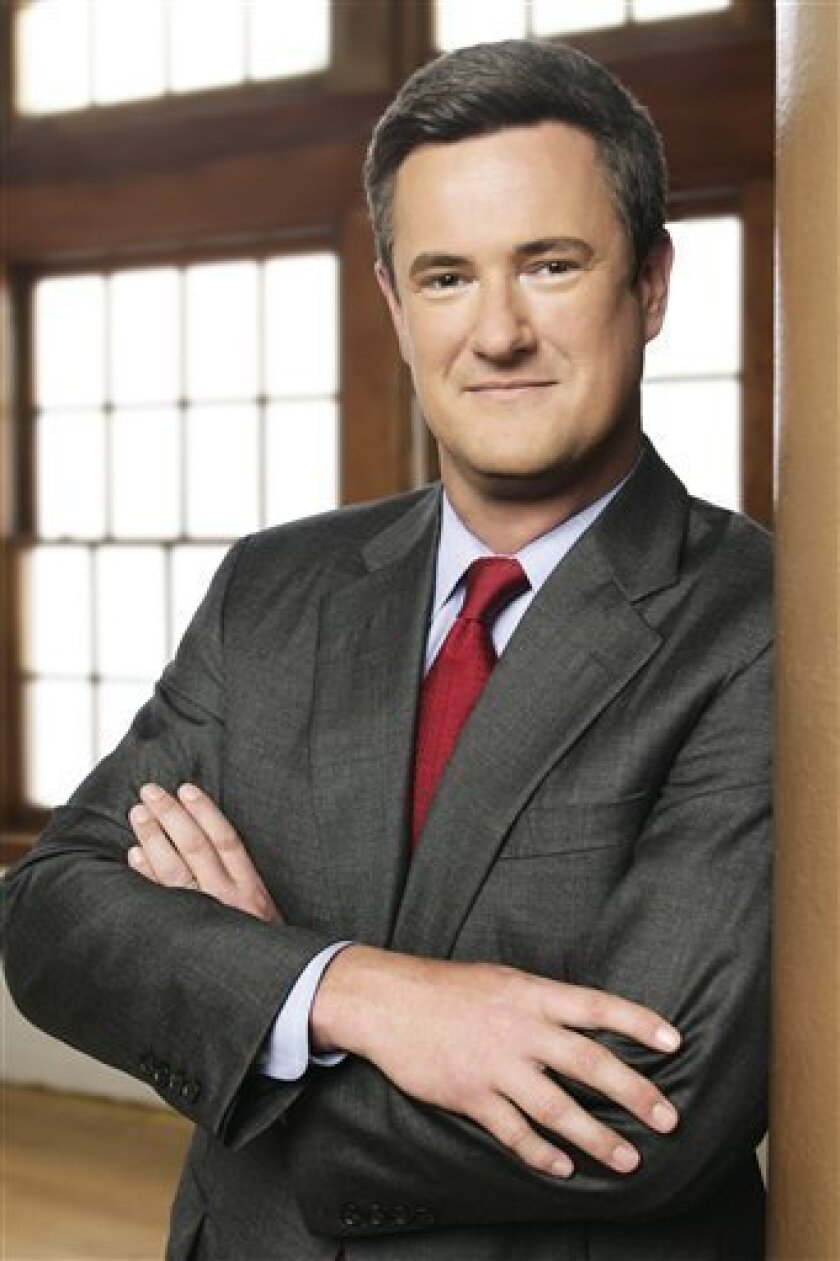 """This photo of MSNBC on air personality Joe Scarborough was released in New York, Wednesday, March 30, 2006. Cable is not enough for Scarborough. He has a book coming out in May, """"The Last Best Hope: Restoring Conservatism and America's Promise."""" """"The Last Best Hope"""" will issue a challenge to Scarborough's own political party: reform or die,"""" according to a statement issued Tuesday Feb. 3, 2009, by Crown Forum, an imprint of Random House, Inc. (AP Photo/MSNBC, Craig Blankenhorn)"""