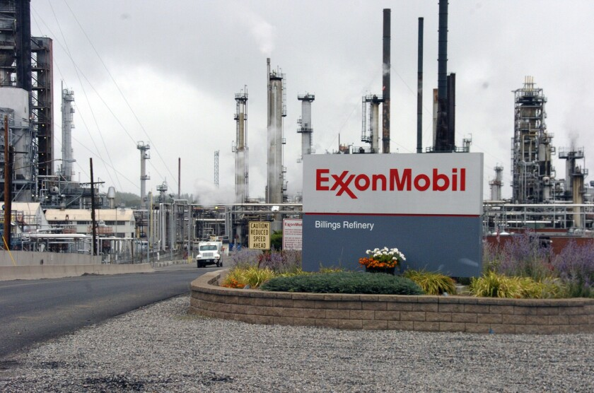 An Exxon Mobil refinery in Billings, Mont.