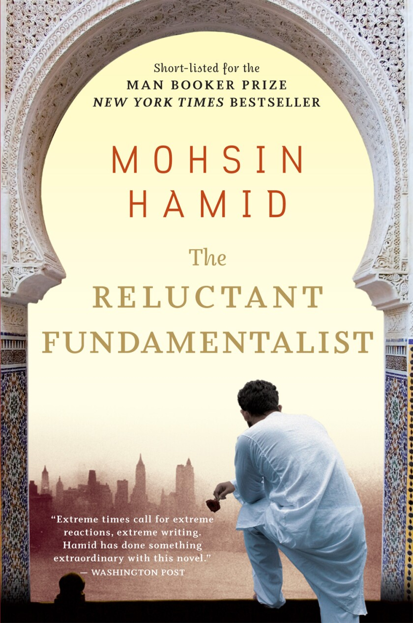 """Book jacket for """"The Reluctant Fundamentalist"""" by Mohsin Hamid"""