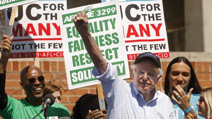 Sen. Bernie Sanders at UCLA strike